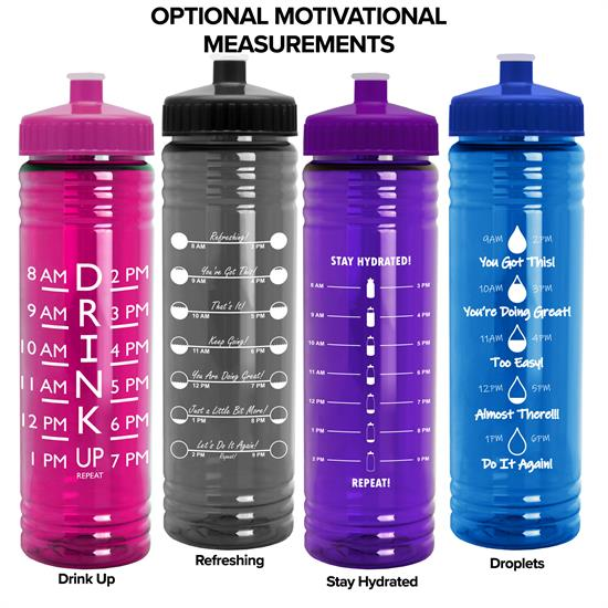 TB24 - 24 oz. Slim Fit Water Bottle with Push-Pull Lid
